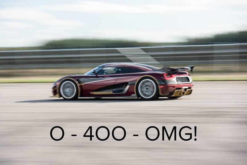 Koenigsegg Throws Shade At The Bugatti Chiron's 0-400-0 KM/H Record