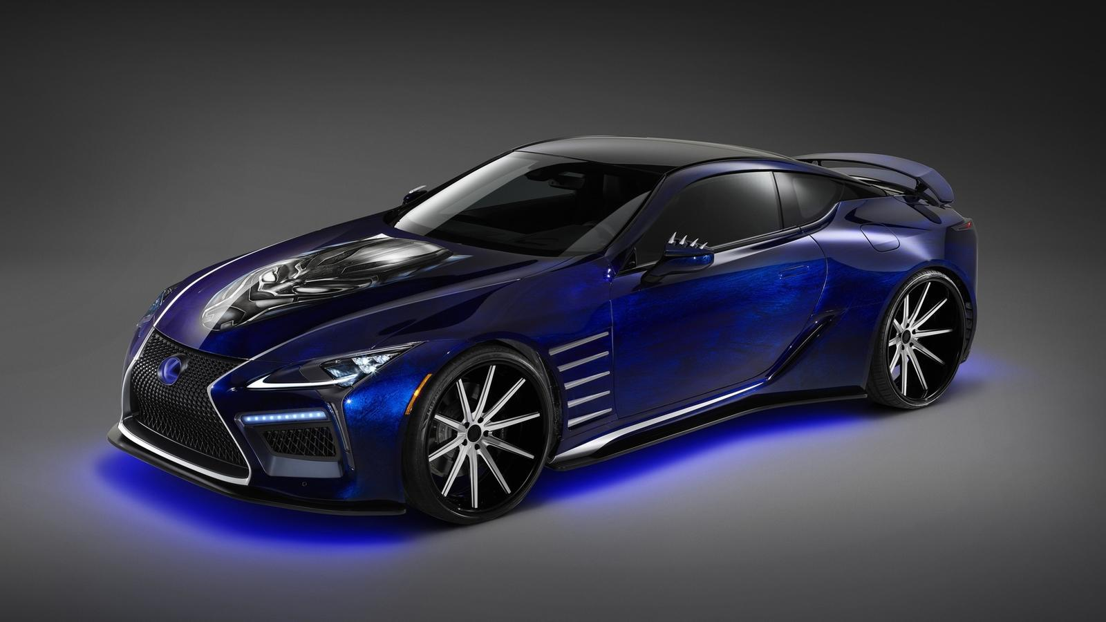 2017 Lexus Lc 500 Inspired By Black Panther Pictures Photos