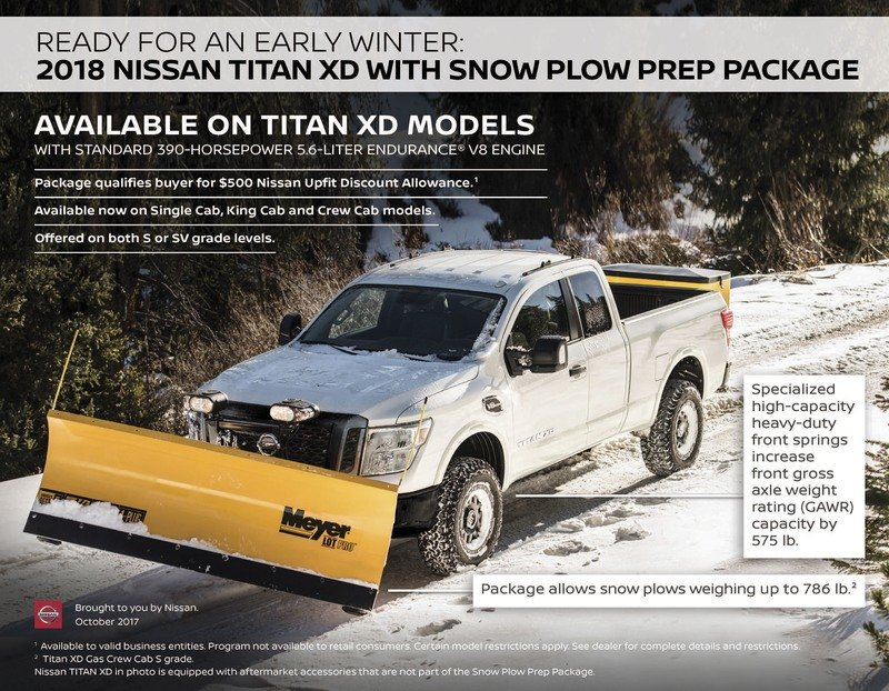 Nissan Titan XD Snow Plow Package Is Ready for a White Christmas