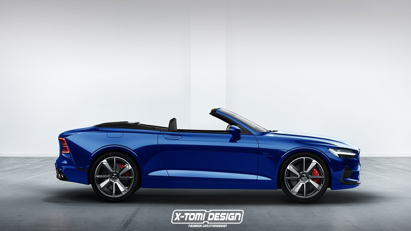 Polestar 1 Convertible Rendering by http://xtomi.blogspot.com