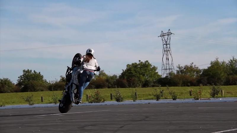 How about a career in stunt riding? Sarah Lezito shows you how.