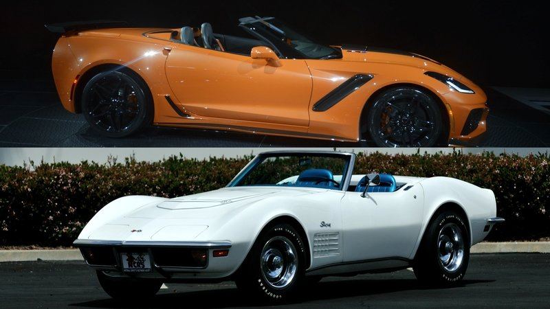 Chevrolet Corvette ZR1 Convertible: Old vs New - Almost 50 Years Apart