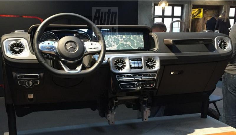 Dashboard of Next-Gen Mercedes G-Class Spied