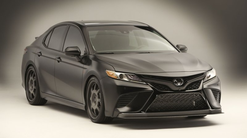 NASCAR Champ Truex Jr. Designs All-Black Toyota Camry for SEMA