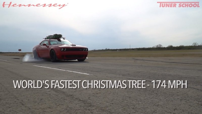 Christmas Greetings From Hennessey and a Dodge Challenger Hellcat Widebody