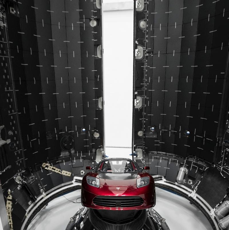 Elon Musk is Launching His 2008 Tesla Roadster into Space Today