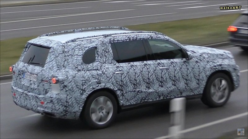 Mercedes GLS-Class Caught Testing in Traffic