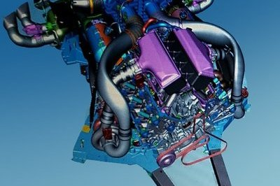More CAD Images Show the Mid-Engined, C8 Corvette's Twin-Turbo, DOHC, LT7 in All its Digital Glory