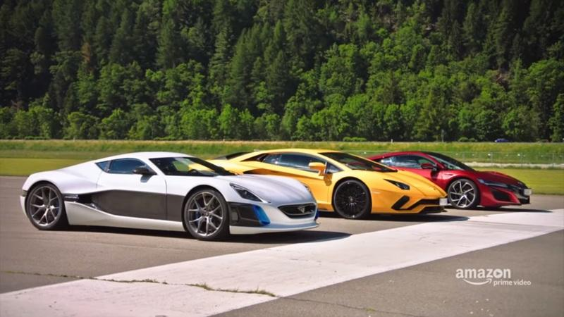 Richard Hammond Kills the Lamborghini Aventador and Acura NSX with the Rimac One