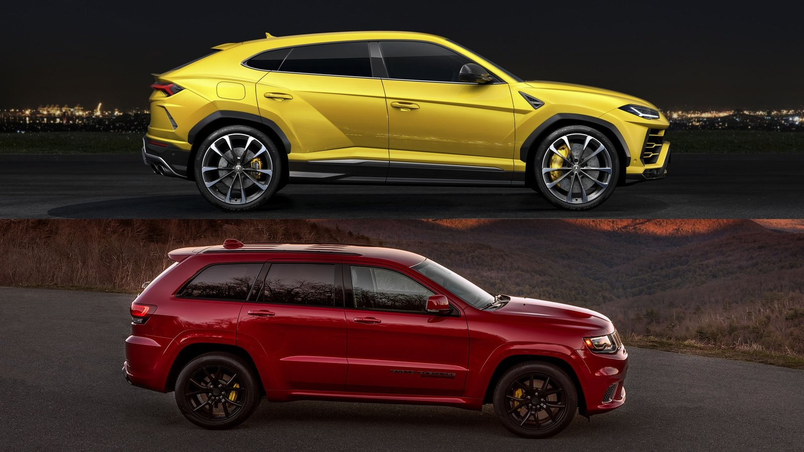 Table For Two Comparing The Lamborghini Urus And The Jeep