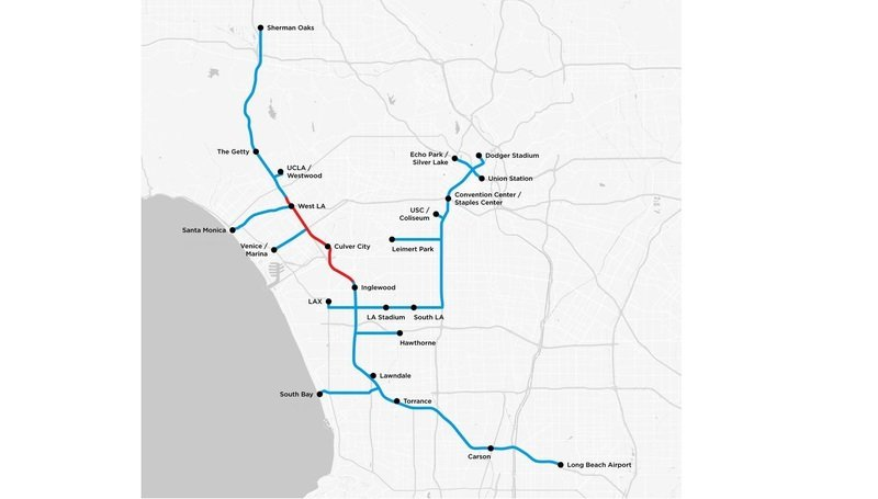 The Boring Company Releases a Map Showing Potential Tunnel Routes Under Los Angeles