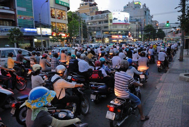 Vietnam is fighting another war. Motorcycles