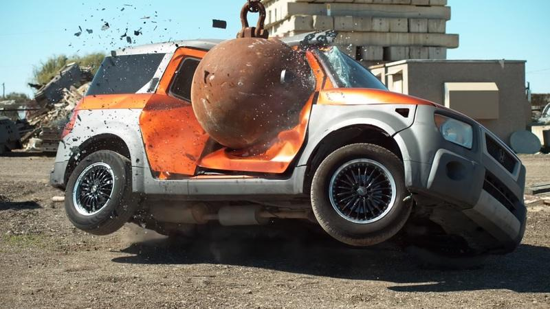 Wrecking Ball Gets a 'Go' At Smashing Cars