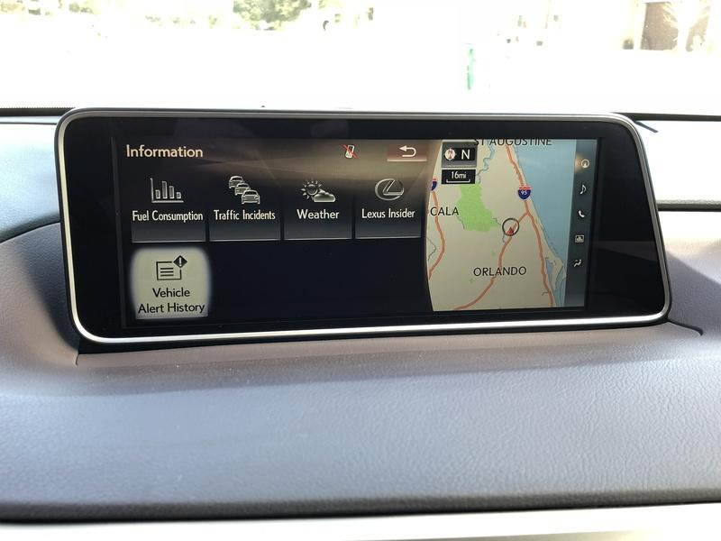 A Brief Look at the Lexus RX350's Infotainment System