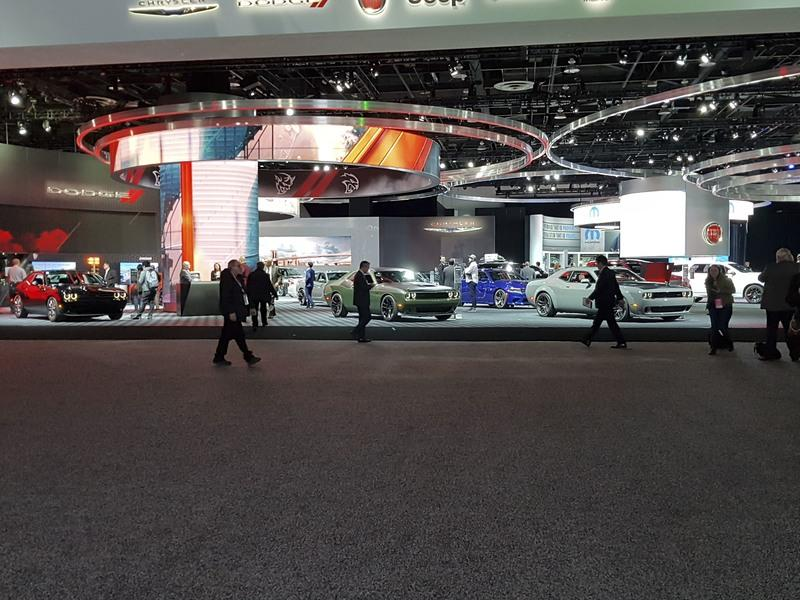 Booth Layout at the Detroit Auto Show Proves FCA is in Love with the Aging Challenger