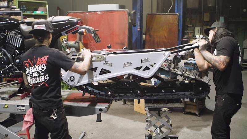 Harley Davidson commissioned these Street Rod Snow bikes