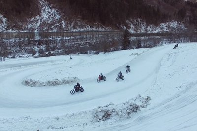 Harley Davidson enters the Snowquake 2018