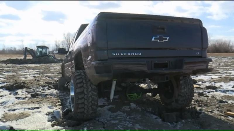 Idiot Tries To Off-Road In The Wrong Place, Gets New Silverado Stuck In Frozen Pond: Video
