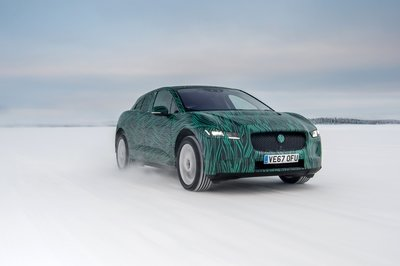 Video: Jaguar Teases Upcoming I-Pace Electric SUV With Winter Testing In Sweden - image 764101