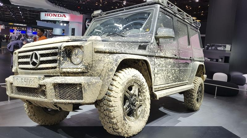 "Mercedes Displays Muddy ""Pole2Pole"" G-Class At Detroit"