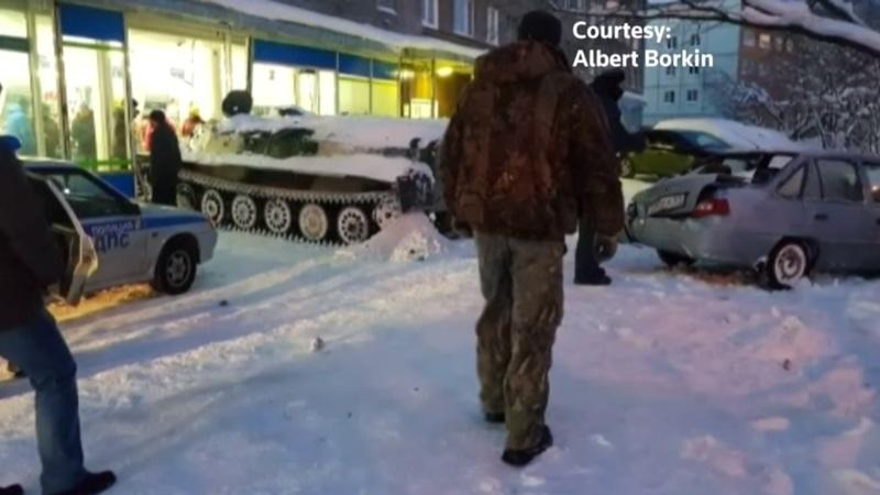 Only in Russia: Drunk Man Crashes Stolen Tank into Store; Proceeds to Steal a Bottle of Wine