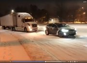 Tesla Model X Pulls Stuck Volvo Semi Out Of The Snow: Video - image 755977