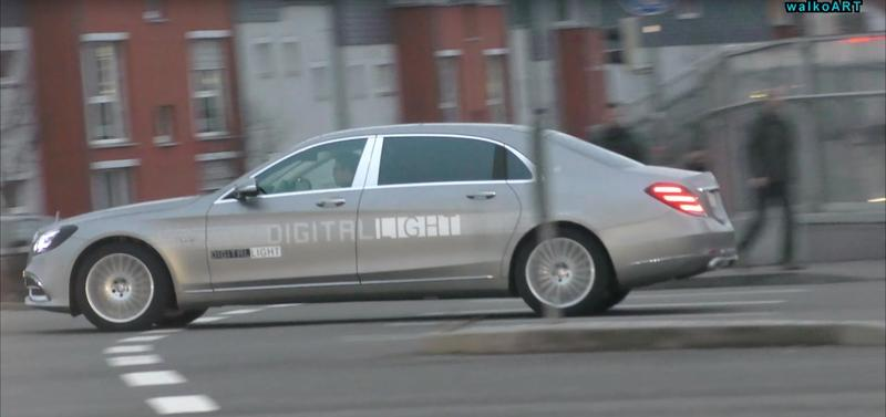 "Video: Mercedes S-Class With ""Digital Light"" Headlights Caught Testing In The Wild"
