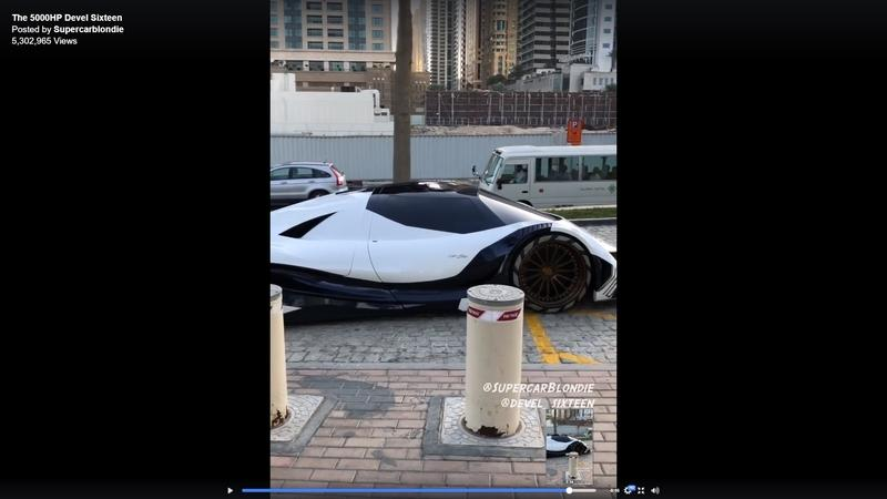 Video of the Day: Supercar Blondie Gets a Devel Sixteen