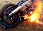 A 1951 Triumph Thunderbird is torched by vandals - image 769533