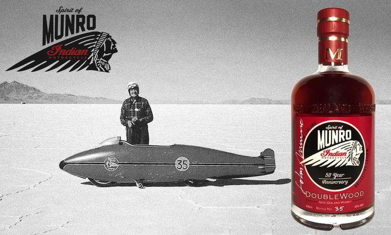 A Whiskey to honour the 50th anniversary of Burt Munro's land-speed record on an Indian