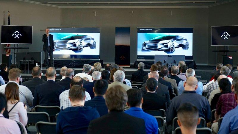 Faraday Future Teases a New Model, the FF81, at a Supplier Meeting in California