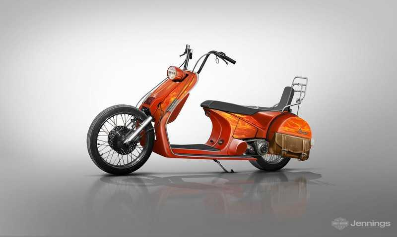 If Vespa made more than just scooters, this is how they might look