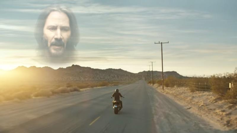 Keanu Reeves Rides His Arch Motorcycles KRGT-1 in Squarspace's Superbowl LII Ad