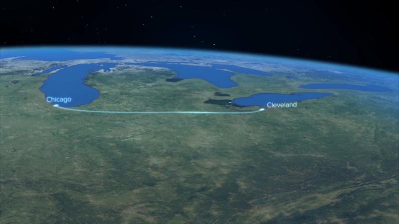 Route Between Cleveland and Chicago Under Consideration for a Hyperloop Route