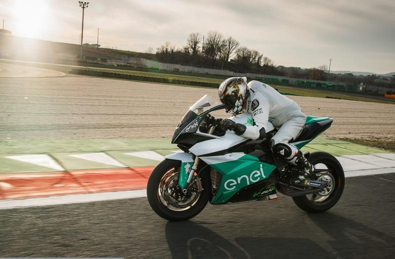 The Energica EgoGP bike breaks cover