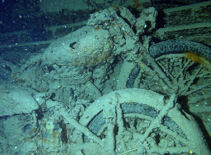 This photo of Norton 16H bikes won the Underwater Photographer of the Year