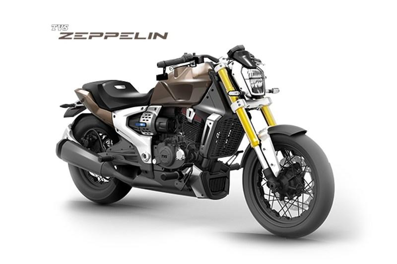 TVS Motors unveiled a brand-new Hybrid motorcycle, the TVS Zeppelin concept