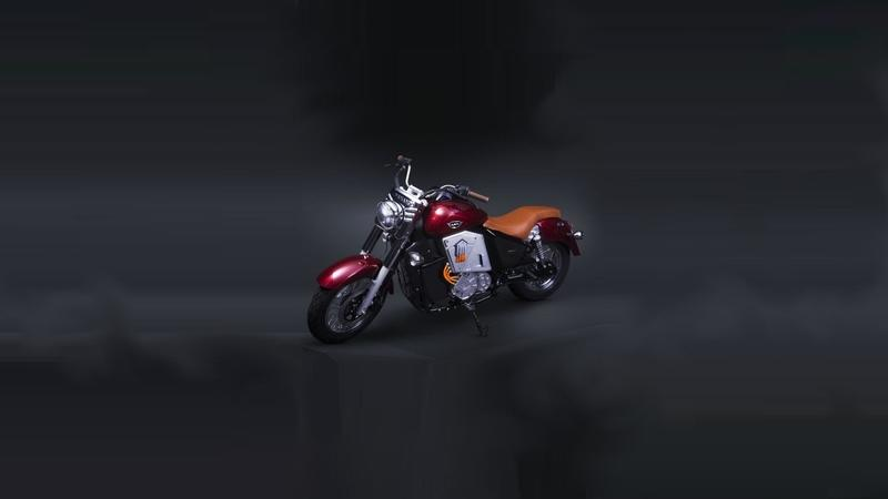 UM motorcycles showcased the Renegade Thor electric cruiser