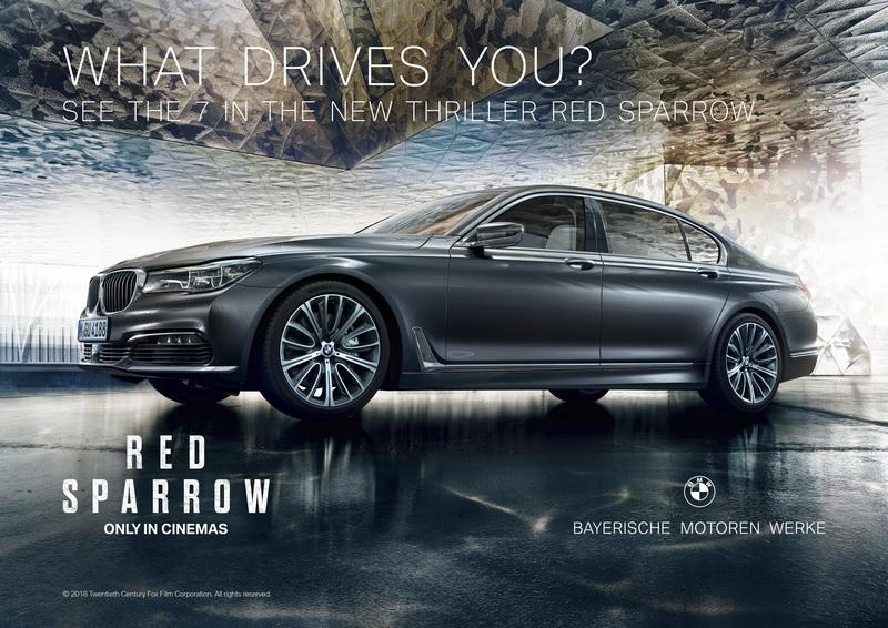 Video Of The Day: BMW 7 Series Stars In Red Sparrow Trailer