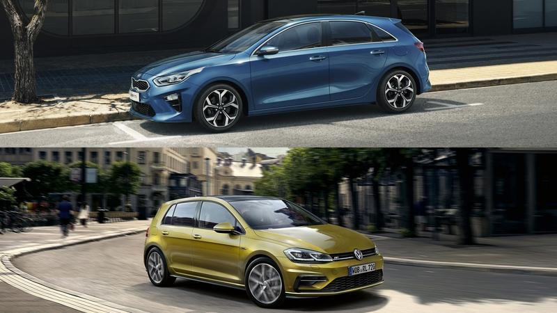 Visual Comparison: 2019 Kia Ceed vs 2018 Volkswagen Golf
