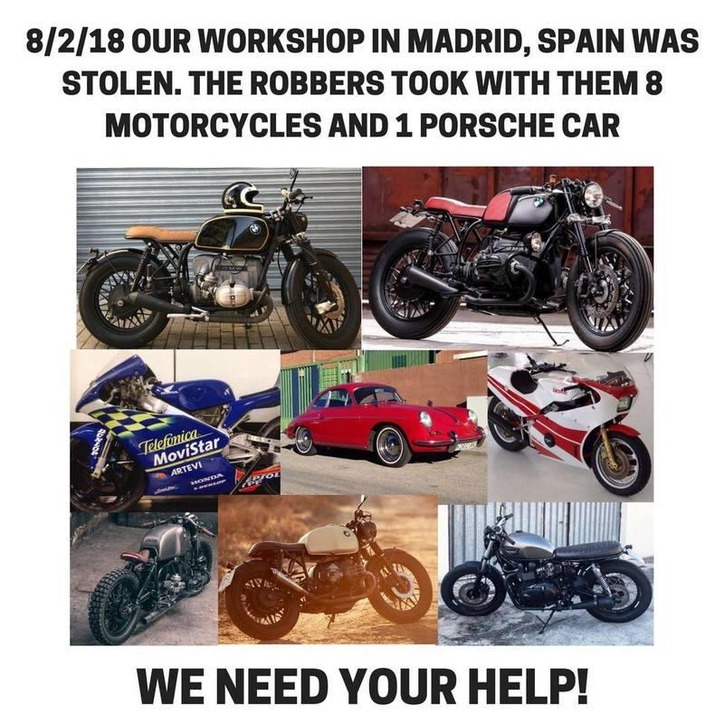 What would you do if you had 8 vintage motorcycles and a Porsche stolen from your garage? Exterior - image 768613
