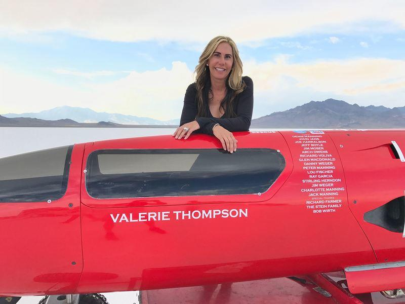 Valarie Thomson suffered a crash while attempting to set the motorcycle land-speed record