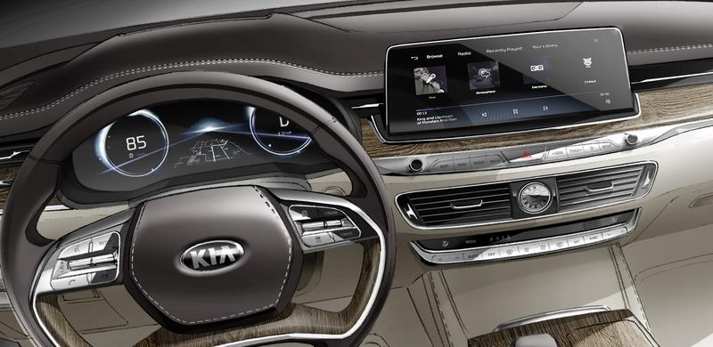 Audi Execs Will Fall Out of their Chairs when they See This Sketch of the Kia K900 Interior