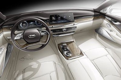 Audi Execs Will Fall Out of their Chairs when they See This Sketch of the Kia K900 Interior - image 774144