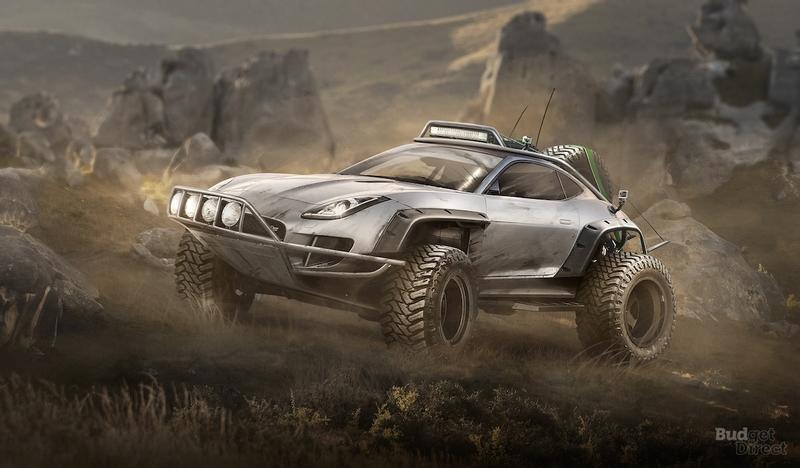 Budget Direct Renders 7 Sports Cars Built For Off-Roading