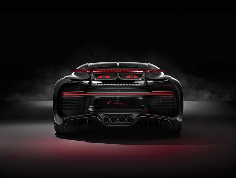 The Buggati Chiron Sport Weighs Less, Gets Carbon Fiber Wipers and a New Exhaust Layout; Costs an Extra $1 Million