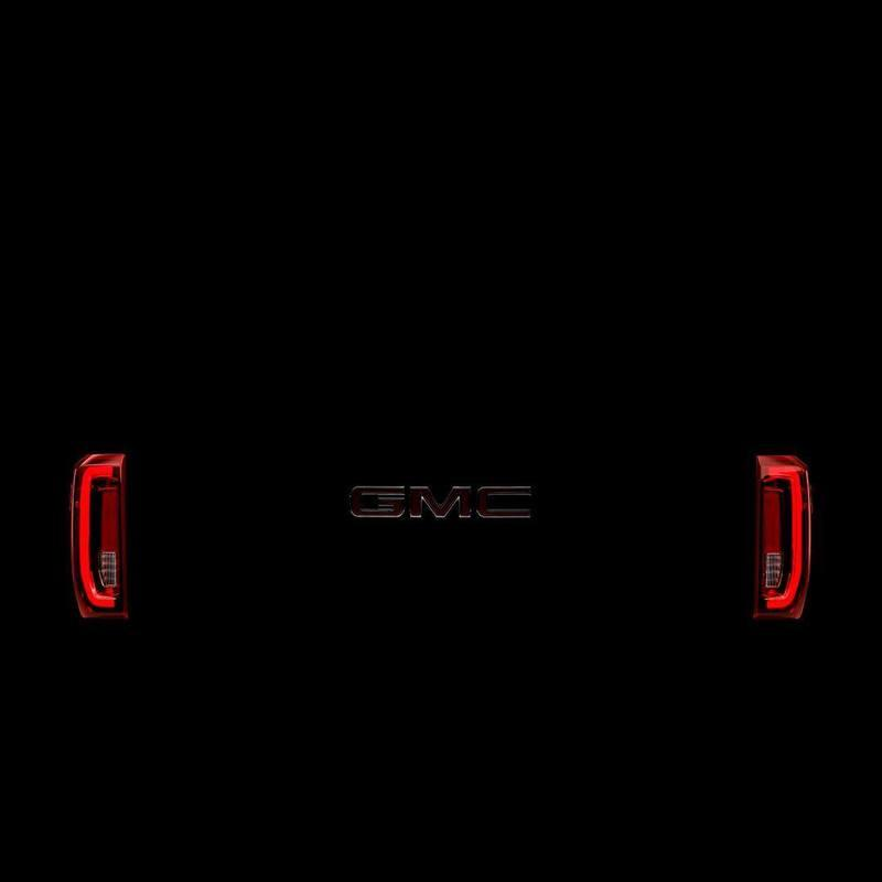 GMC Teases the 2019 GMC Sierra Taillights and Side Profile