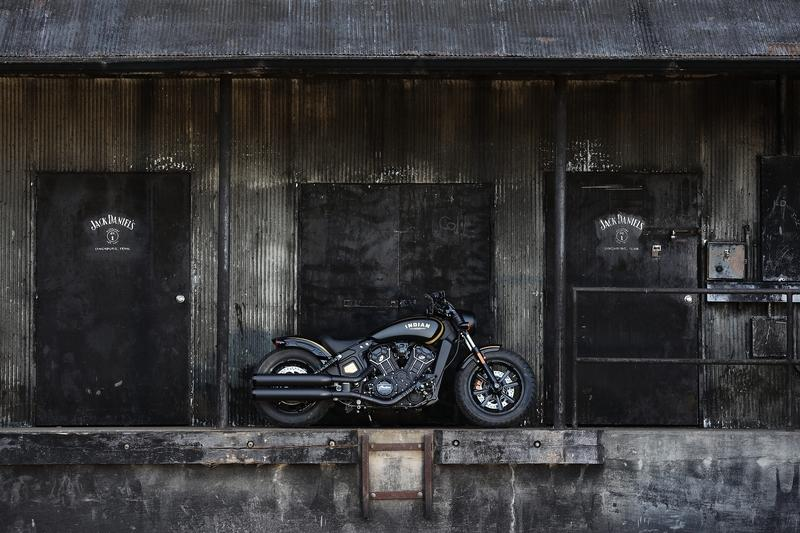 Indian Motorcycles unveiled the Jack Daniel's Limited Edition Scout Bobber