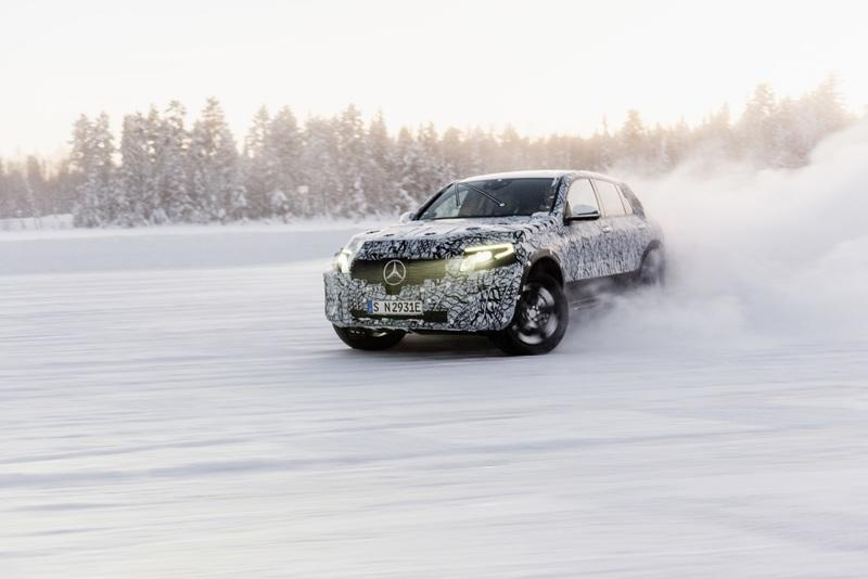 Mercedes Shows Off Official Spy Shots of the EQC Production Prototype
