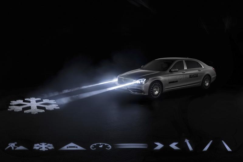Mercedes Takes Headlights a Little Too Far with the Maybach S-Class Digital Light